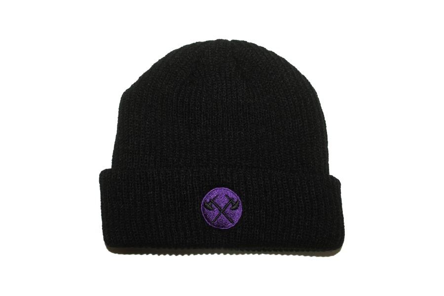 Axes beanie 2 Purple web